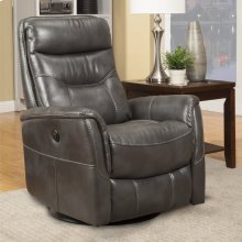Gemini Flint Power Swivel Glider Recliner with Articulating Headrest and built-in battery pack