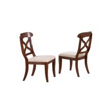 DLU-ADW-C12-CT-2  Andrews Dining Chair  Chestnut  Set of 2