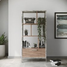 Nova Domus Boston Modern Brown Oak & Faux Concrete Bookcase