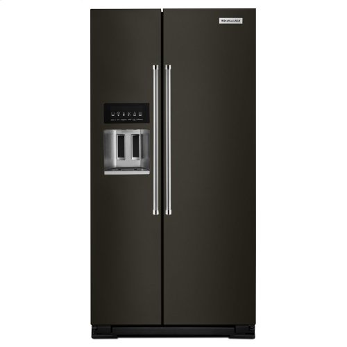 24.8 cu ft. Side-by-Side Refrigerator with Exterior Ice and Water and PrintShield finish - Black Stainless Steel with PrintShield™ Finish