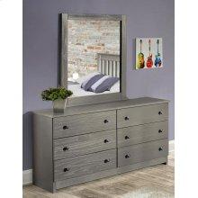 Gray Dresser & Mirror
