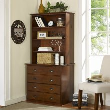 Valley Forge Double File Cabinet with Hutch