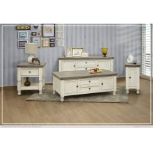 2 Drawer, 2 Doors, Shelf Sofa Table