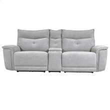 Power Double Reclining Love Seat with Console and Power Headrests