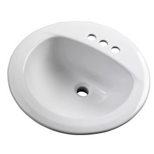 """White Maxwell® Round 4"""" Centers Self-rimming Bathroom Sink"""
