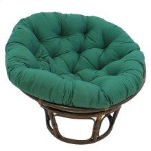 Bali 42-inch Indoor Fabric Rattan Papasan Chair - Walnut/Forest Green