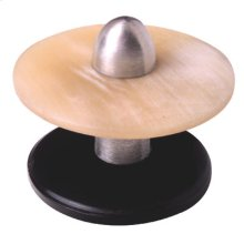 Satin Pewter & Cattle Horn Cabinet Knob - 012