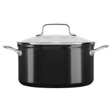 6 Quart Hard Anodized Non-Stick Low Casserole with lid - Black Sapphire