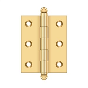 "2-1/2""x 2"" Hinge, w/ Ball Tips - PVD Polished Brass Product Image"