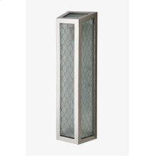 Brasserie Wall Mounted Single Sconce with Chicken Wire Glass STYLE: BSLT01
