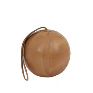 Door stopper 20x51 cm BALL leather brown Product Image