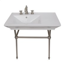 "Opulence Small Console with Brass Stand for ""Him"" - 8"" Widespread / Brushed Nickel"