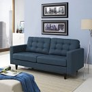 Empress Upholstered Fabric Loveseat in Azure Product Image