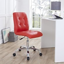 Prim Armless Mid Back Office Chair in Red