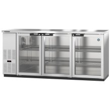 HBB-3G-LD-80-S, Refrigerator, Three Section, Stainless Steel Back Bar Back Bar, Glass Doors