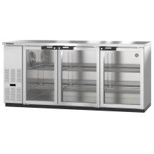 HBB-3G-LD-80-S, Refrigerator, Three Section, Stainless Steel Back Bar Back Bar, Glass Doors