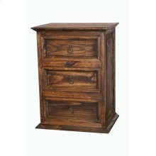3 Drawer Nightstand Medio Finish
