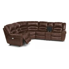 Crosstown Leather Power Reclining Sectional with Power Headrests