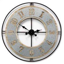 Wooden & Metal Wall Clock  31in X 31in X 2in