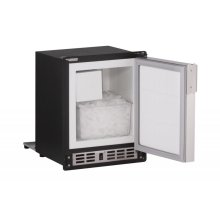 "15"" Marine Crescent Ice Maker Stainless Solid Field Reversible"