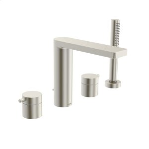 Lana 4-hole roman tub trim kit, brushed nickel Product Image