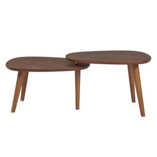 Goyle KD Coffee Table, Walnut