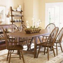 7 Piece Trestle Table Set