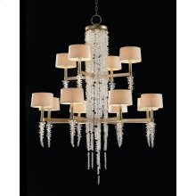 Cascading Crystal Waterfall Twelve-Light Chandelier