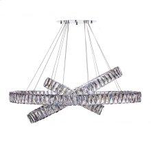 Crystal Elegance- Three Tier Oval Chandelier