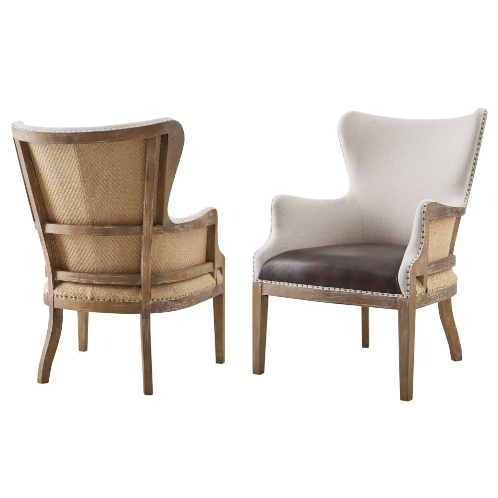 "George Two Tone Wingback Accent Chair 26""X32""38.5"" [1pc/ctn]"