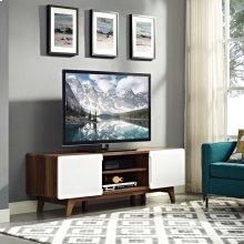 "Tread 59"" TV Stand in Walnut White"