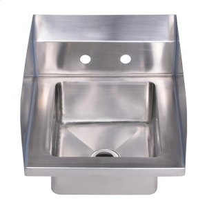 """Noah's Collection Utility Series single bowl, drop-in hand sink with 7"""" side splash. Product Image"""