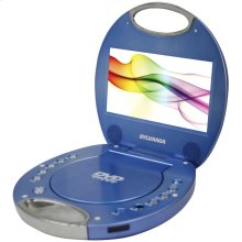 "7"" Portable DVD Player with Integrated Handle (Blue)"