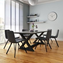 Zax/Buren 7pc Dining Set, Grey