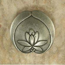 Asian Lotus Flower Knob 3 Inch