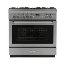 AGA Professional 36 Dual Fuel Stainless Steel with Chrome trim