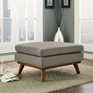 Engage Upholstered Fabric Ottoman in Granite Product Image