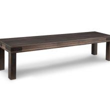 """Chattanooga 72"""" Leg Bench with Wood Seat"""
