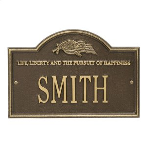 Life and Liberty Personalized Plaque - Antique Brass Product Image