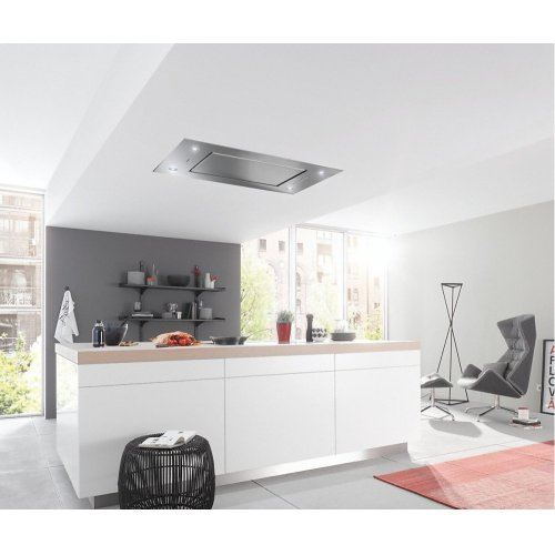 DA 2818 Ceiling extractor with energy-efficient LED lighting and backlit controls for easy use.