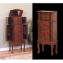 """Classic Cherry"" Jewelry Armoire - overpacked"