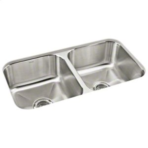 """Carthage™ Undercounter Double-basin Sink, 32"""" x 18"""" x 8-1/4"""" Product Image"""