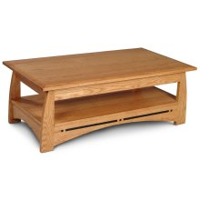 "Aspen Coffee Table with Inlay, Aspen Coffee Table with Inlay, 48""x27"""