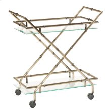 Lanai Serving Cart In Antique Brass Finish