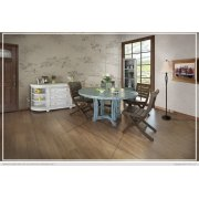 Solid Wood Chair w/ fabric seat Product Image