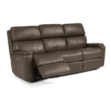 Rio Leather Power Reclining Sofa with Power Headrests