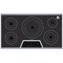 "Masterpiece 36"" Electric Cooktop with Touch Control and Sensor Dome and Bridge Element CES365FS"