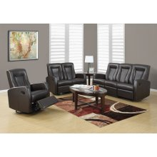 RECLINING - SOFA DARK BROWN BONDED LEATHER