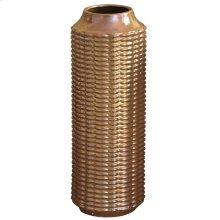 LENNON VASE- SMALL  copper Finish on Ceramic