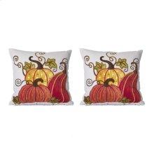 S/2 Pumpkin And Gourd Pillow